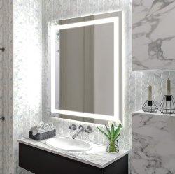 De Muur van het Decor van het Huis van het hotel zette de Decoratieve Schakelaar Defogger die van de Aanraking Backlit Aangestoken Verlichte LEIDENE van de Badkamers Spiegel Spiegel verduisteren op