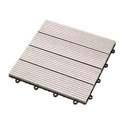 Patio en plastique en bois WPC DIY Plancher tablier imperméable de verrouillage de l'extérieur Tile 300*300mm DIY Bois composite en plastique des briques creuses