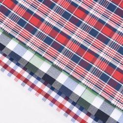 도매 멀티 컬러 클래식 체크 면 염색 섬유 우븐 폴리에스테르 면 격자무늬 섬유 학교 유니폼용, 셔츠 의상