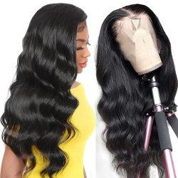 24 بوصة طويلة وعميقة الموجة العميدة الشعر البشرية الكاملة Lace #4 شعر مستعار