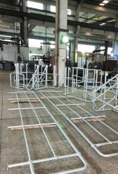 Jimu Rótula galvanizados a quente dos corrimãos ou acabamento em pintura electrostática a pó