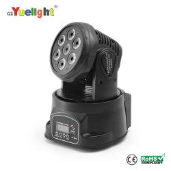 Этапе лампа LED DMX перемещение светодиодной панели 7ПК*10W перемещение головки Лампа Mini Перемещение ручного головки блока цилиндров