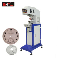1 Machine van de Druk van het Stootkussen van de Wijzerplaat van het Horloge van de kleur de Halfautomatische om Klein Embleem Af te drukken