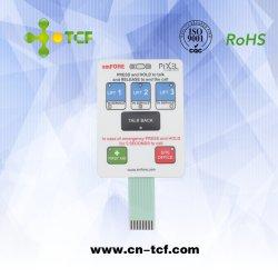 Carte PCBA Interrupteur à membrane avec touches de gaufrage et circuit flexible