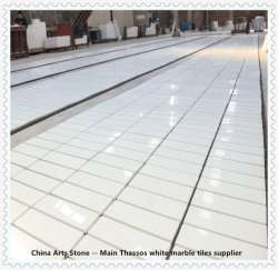 Bianco Thassos/ Crystal branco puro mármore da natureza para parede e projectos de azulejos do piso