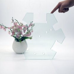 3-10mm temperada de flutuação/Vidro Temperado vidro curvo para chuveiro