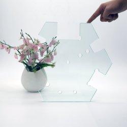 Vetro piano curvo/di vetro ultra bianco Tempered di vetro dell'acquazzone