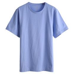 Breve camicia 100% di T del manicotto degli abiti sportivi del cotone di grande misura causale su ordinazione all'ingrosso in linea della pianura per gli uomini