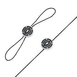 Пластмассовые стопорные повесить Tag уплотнение String шнур питания для одежды (DL109-1)