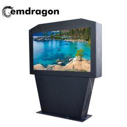 65 بوصة تكييف الهواء شاشة أفقية الأرضية في الهواء الطلق الإعلان آلة المس Kiosk Ad Player LED Digital Signage Floor Standing Advertising الشاشة