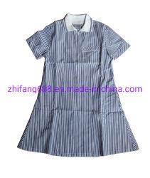 Mädchen-Sommer-Kleid T-/C65/35 Garn gefärbtes