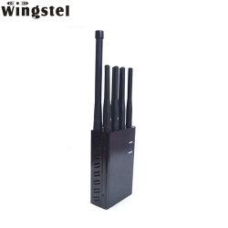 El 8 de la banda de múltiples antenas WiFi GPS portátiles 3G 4G GSM 5G celular Bluetooth Car RF REMOTE Lojack Breaker Jammer señal de teléfono móvil