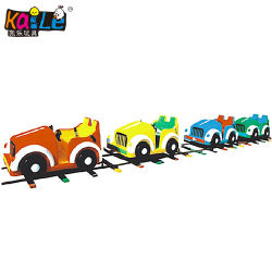 屋外の運動場の子供のゲームの小型電気子供の無軌道の漫画車トレイン(KL6015)