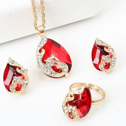 Insieme di cristallo di lusso nuziale Wedding dei monili della collana degli orecchini di Zircon