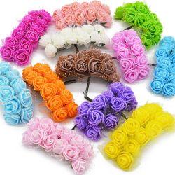 핫 셀링 멀티 컬러 실내 및 실외 인공 화분 꽃