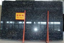 천연 석재 블랙/화이트/그레이 폴리쉬/호닝/플래싱/브러시드 블루 펄 그래니트는 바닥/벽/야외 석판/타일/조리대/계단/실/기둥/포장기를 위한 것입니다