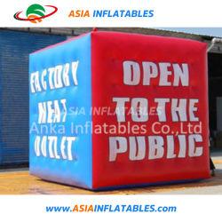 Aerostato di pubblicità di galleggiamento gonfiabile del cubo di stampa su ordinazione di Laster