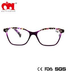 Moda unissexo Primavera dobradiça Eyewear armação óculos de leitura personalizada plástico Com um padrão na parte superior da frente Estrutura (WRP805029)