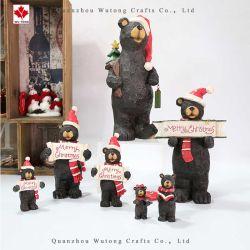 La resina de promoción de la artesanía tiene una decoración de Navidad en casa vacaciones