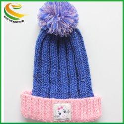 Gli adulti su ordinazione acrilici di 100% Plain il Beanie su ordinazione lavorato a maglia del Knit