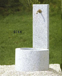 La piedra natural granito blanco fuente SF-FT-0164 Jardín de paisaje