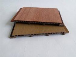 Современный минималистский Wood-Plastic композитные панели стены для использования вне помещений выделенной настенной панели