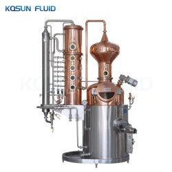 rame del POT di riflusso del gin della vodka del whisky del brandy dell'alcool di spirito dell'acqua di 200L 500gallon 1000L ancora