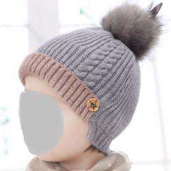 冬の Pompoms 帽子の暖かいアクリルのニット帽子は切口と Unisex Esg13430 用 POM POM スキーキャップ