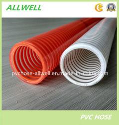 PVC spirale plastique du tuyau flexible sur le jardin de l'eau d'aspiration