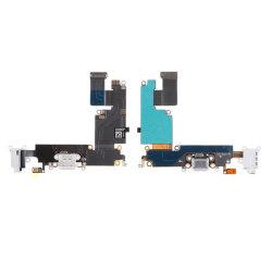 Teléfono celular cargador de cinta de cable flexible Flex 5.5 puerto de carga micro USB conector para Base Dock conector para auriculares y micrófono (blanco) para el iPhone 6 Plus