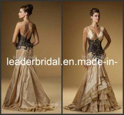 Mermaid мантии выпускного вечера платья вечера золота Wedding официально мантия E13187
