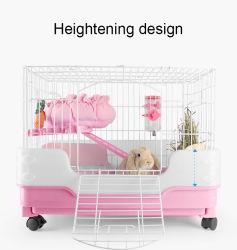 Для использования внутри помещений домашних кролик каркаса Chinchilla двойной отсек для мелких животных