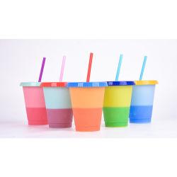 Nuevo estado de ánimo Cup 710ml en frío de plástico con cambio de color taza de café FL753