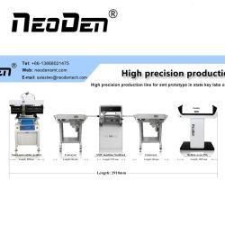 A linha de produção de Colocação de SMT em laboratórios de protótipo PCB com pequena máquina de soldar