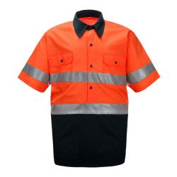 High Visibility Groothandel Polyester reflecterende polo met Construction Safety Shirt