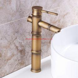 Tipo de cabo simples Bamboo fio de cobre desenho banheiro Basin faucet
