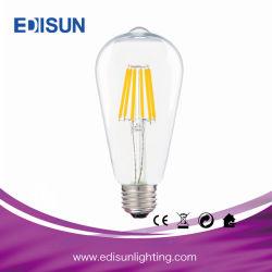 喫茶店のための型St64 LEDのフィラメントの球根4W 6W 8W E27 E26 B22