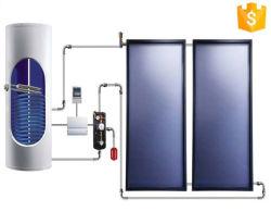 Solarwarmwasserbereiter-System einschließlich Sonnenkollektor-vertikalen Sammelbehälter und Pumpe