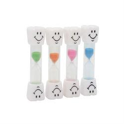 Les enfants de l'heure de verre en plastique 2 minutes de brossage des dents Sand Timer