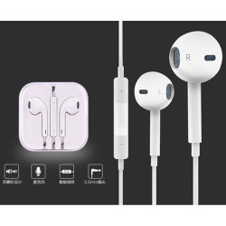 Рекламные 1,2 м 3,5 проводной дешевые наушники-вкладыши с микрофоном для iPhone 6/6s