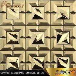 Golden em aço inoxidável de metal de imagens 3D cozinha parede metálica painel contra salpicos Mosaicos