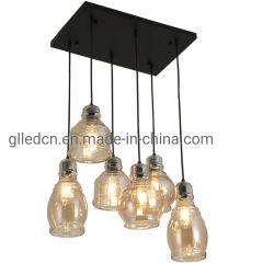Las luces de colgante moderno Lámpara de Vidrio Vintage nórdicos Loft Decoración Industrial para la cocina comedor lámpara colgante Retro Iluminación del hogar