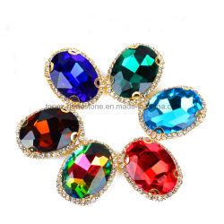 Accessoires du vêtement à coudre sur Crystal Stone Perles Rhinestone Garniture (SW-ovale Ellipse 10*14)