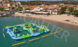 5 - 7 лет без содержания ПВХ красочные открытый надувные 4 Lane Rainbow сухой слайд для детей и взрослых популярных прочного гигантские плавающие Unicorn водными видами спорта в бассейн