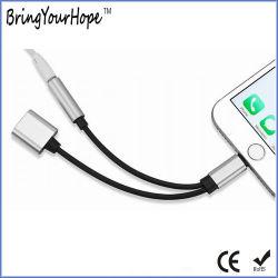 Utilice 2 en 1 de la carga/Música Rayo Cable adaptador para el iPhone 7/8/X.