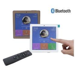 スマートなホーム音声はFMのラジオ、USB、TFが付いている壁のアンプの2/4のチャネルの小型タッチ画面無線Bluetooth、2つから8つのスピーカーに動力を与える