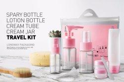 Kit Da Viaggio Cosmetico Per Bottiglie Per Trucco In Plastica Easy Carry Per Lunghi Viaggi In Aereo