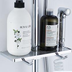 Mensola del cassetto del tovagliolo di bagno dello sciampo del supporto della cremagliera di memoria dell'acquazzone