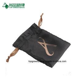 La Cina personalizza i sacchetti di Drawstring dei monili del regalo del raso di alta qualità