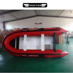 Barca di ricreazione di pesca gonfiabile con il pavimento di alluminio per lo sport di acqua